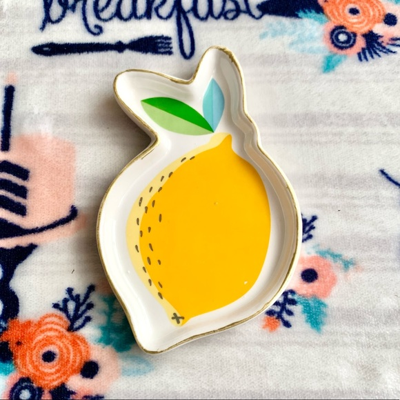 🍊 Citrus Fruity Ceramic Jewelry Trinket Dish 🍊